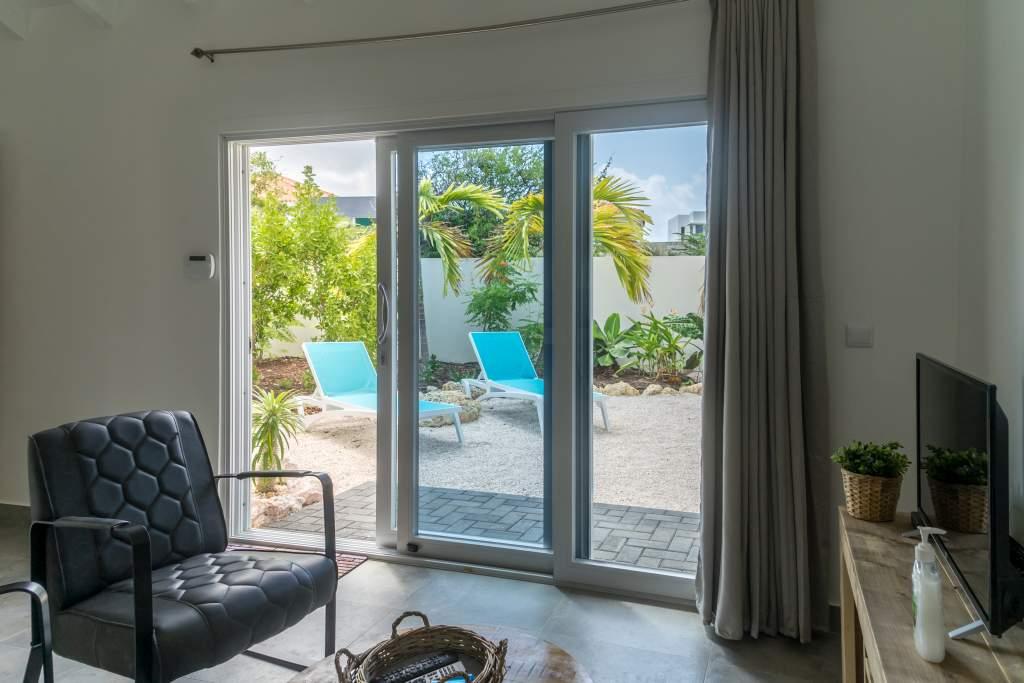 Appartement Curaçao woonkamer. Het vriendelijk Curaçao wacht op u.